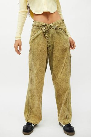 Urban Recycled Overdyed Acid Wash Crossover Jean