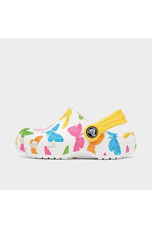 Crocs Clogs - Girls' Toddler Classic Vacay Vibes Clogs Shoes in /Butterfly Size 4.0