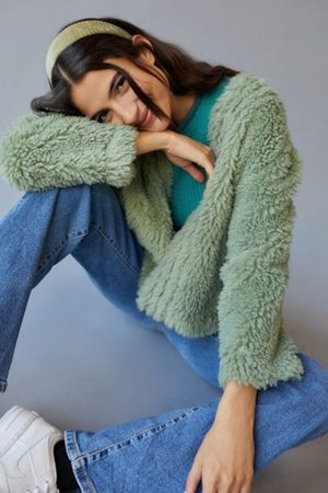 Urban Outfitters UO Cozy Open-Front Cardigan Coat