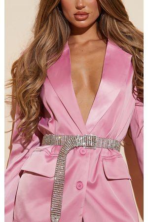 PRETTYLITTLETHING Women Belts - Diamante Chain Link Belt