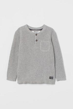 H&M Kids Sweaters - Waffle-knit Henley Sweater
