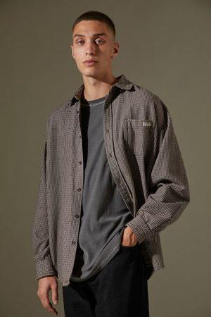 BDG Mini Houndstooth Long Sleeve Shirt