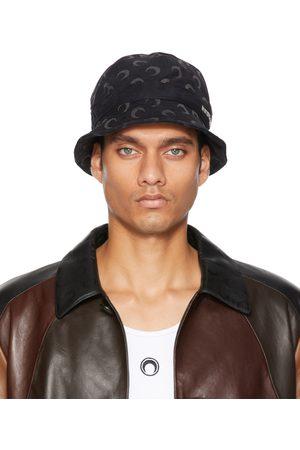 Marine Serre Black Regenerated Moon Bell Hat