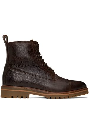 Belstaff Men Lace-up Boots - Leather Alperton Lace-Up Boots