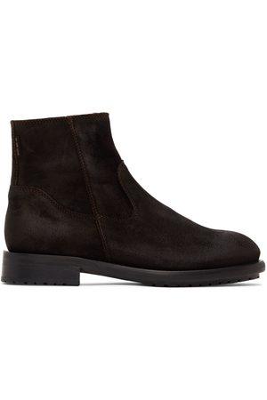 Belstaff Suede Markham Zip-Up Boots