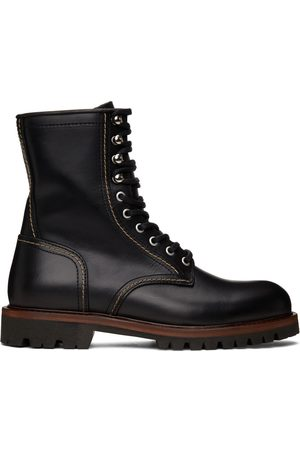 Belstaff Men Lace-up Boots - Leather Marshall Lace-Up Boots