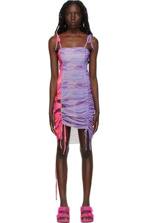 AVAVAV Multicolor Mini Cut-Out Dress