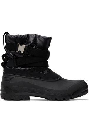 Moncler Black Summus Belt Chelsea Boots