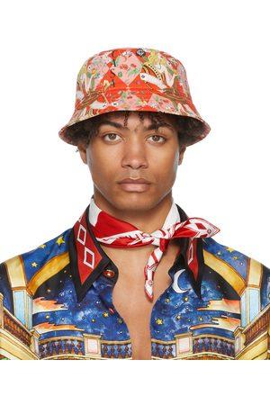 Casablanca Men Hats - Denim Queen Of Cards Bucket Hat