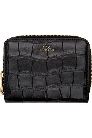 A.P.C. Black Croc Emmanuelle Wallet