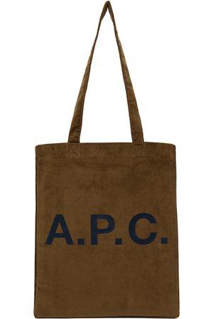A.P.C. Women Tote Bags - Brown Corduroy Lou Tote