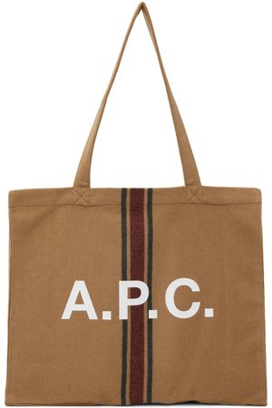A.P.C. Tan Diane Shopping Tote