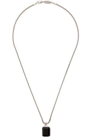 Armani Silver & Onyx Pendant Necklace
