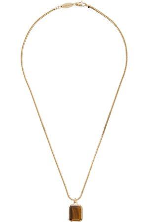 Armani Gold & Tiger's Eye Pendant Necklace
