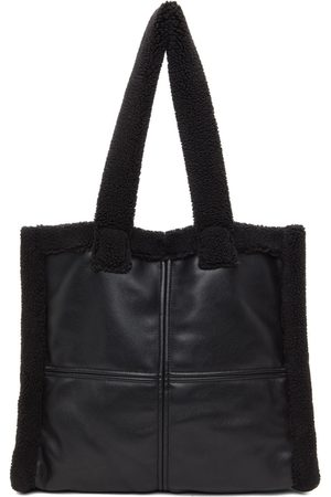 Stand Studio Black Faux-Shearling Large Lola Tote