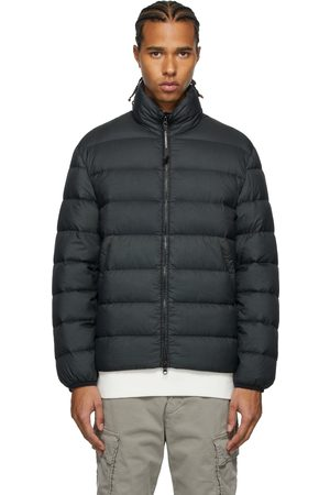 C.P. Company Grey Down Stand Collar Puffer Jacket