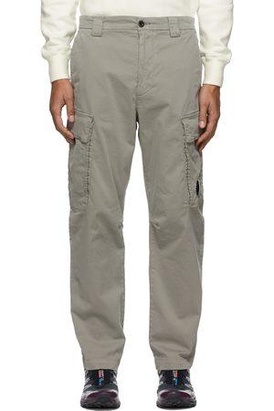 C.P. Company Grey Stretch Sateen Cargo Pants