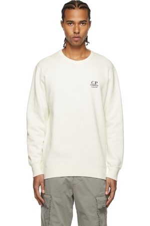 C.P. Company White Makò Cinquanta Logo Sweatshirt