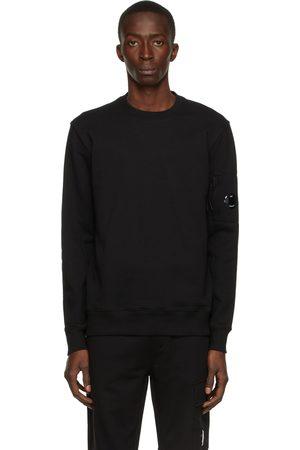 C.P. Company Black Diagonal Raised Fleece Sweatshirt