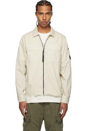 C.P. Company Off-White Gabardine Zipped Lens Shirt