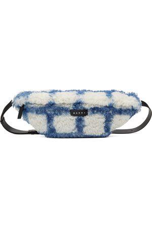 Marni Spray-Painted Shearling Belt Bag