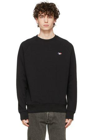 Maison Kitsuné Black Tricolor Fox Patch Crewneck Sweater