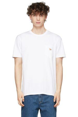 Maison Kitsuné White Profile Fox Patch Pocket T-Shirt
