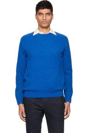 Beams Blue Cashmere Silk 7G Sweater