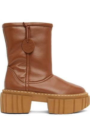 Stella McCartney Brown Faux Leather Emilie Boots