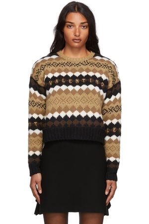 VALENTINO Wool Embroidered Logo Sweater
