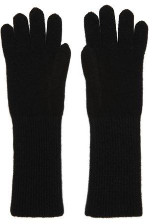 Auralee Black Knit Baby Cashmere Long Gloves