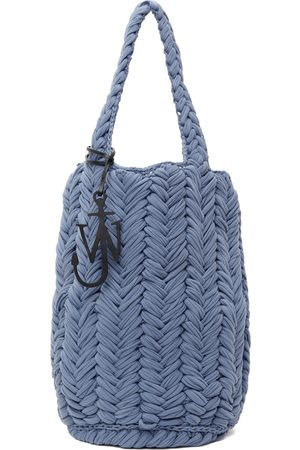 J.W.Anderson Blue Knitted Shopper Bag