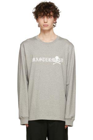 MASTERMIND JAPAN Grey Big Logo Long Sleeve T-Shirt