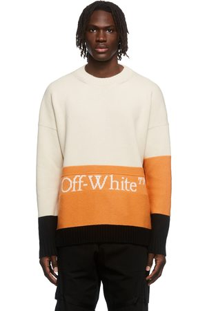 OFF-WHITE Multicolor Colorblock Knit Crewneck Sweater