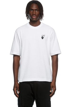 OFF-WHITE White Cut Here Embroidered T-Shirt