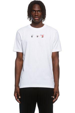 OFF-WHITE White Acrylic Arrow Graphic T-Shirt