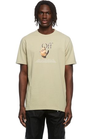 OFF-WHITE Taupe Caravaggio Hand Graphic T-Shirt