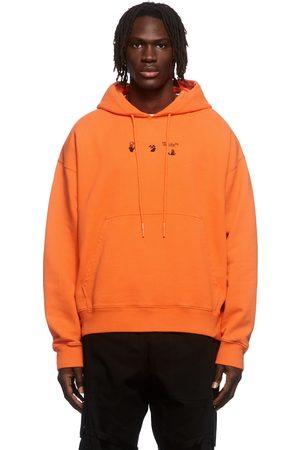 OFF-WHITE Orange Paint Splat Arrow Skate Hoodie
