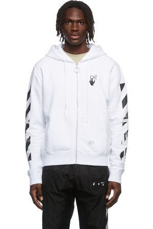 OFF-WHITE White Caravaggio Arrow Over Zip-Up Hoodie