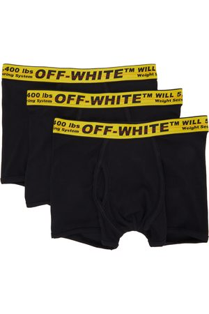 OFF-WHITE 3-Pack Black Industrial Boxer Briefs