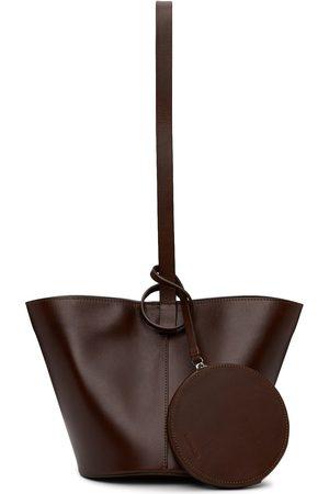 BUILDING BLOCK Beige Short Basket Shoulder Bag
