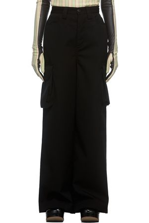 SUNNEI Navy Loose Fit Cargo Trousers