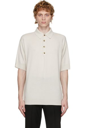 Agnona Off-White Cashmere Polo