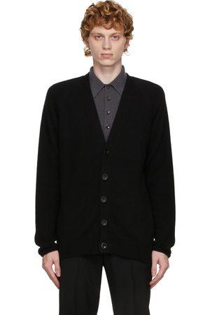 Agnona Black Cashmere & Silk Cardigan