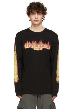 MASTERMIND Black & Orange Frame Long Sleeve T-Shirt