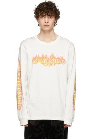 MASTERMIND White & Orange Frame Long Sleeve T-Shirt
