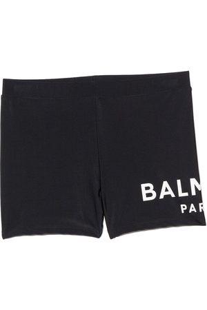 Balmain Boys Swim Shorts - Logo-print swim shorts