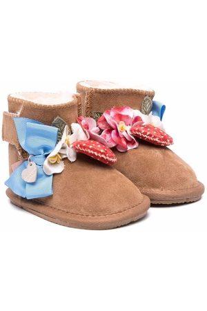 MONNALISA Rain Boots - Appliqué-detail leather boots