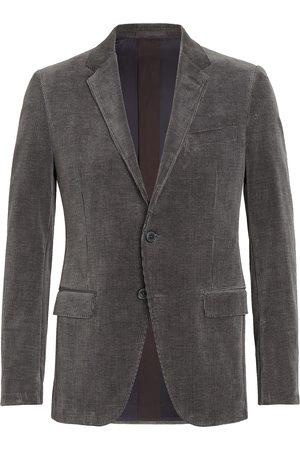 Ermenegildo Zegna Corduroy single-breasted blazer - Grey