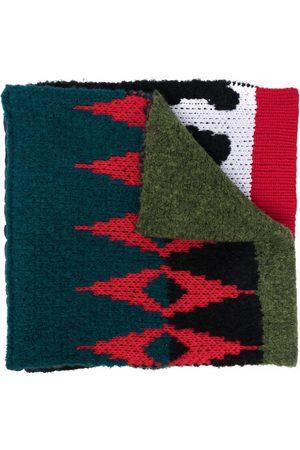 Diesel Scarves - Patchwork wool-blend scarf